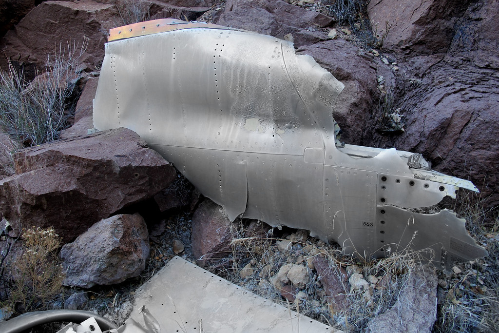 A piece from the fuselage.