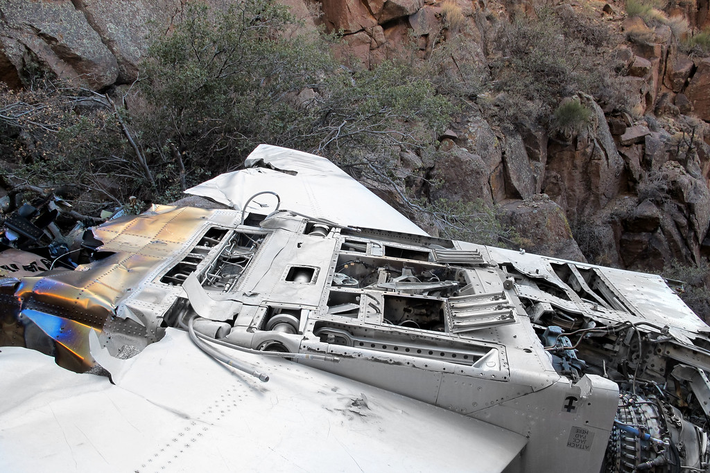 Looks like someone took the time to open and remove all the access covers on the bottom side of the fuselage.