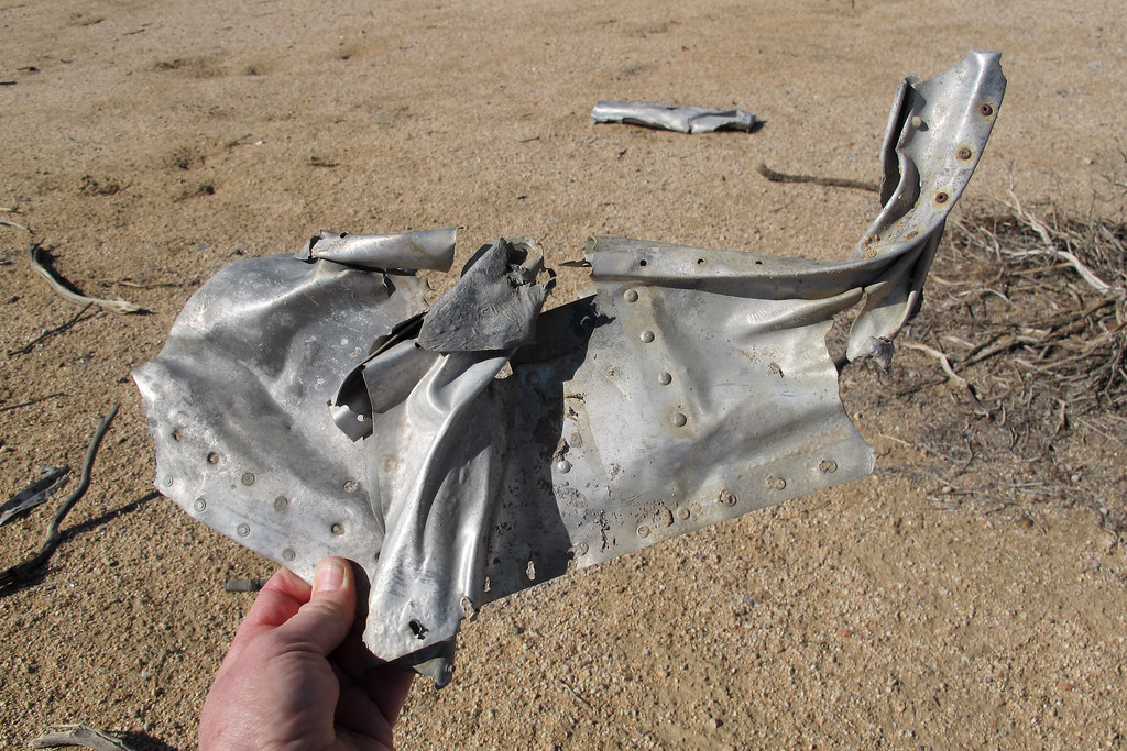 This was the largest piece remaining at the site, looks like it's either from the fuselage or a control surface.