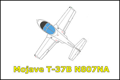 Mojave NASA T-37B N807NA 10/12/13