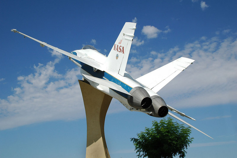 Rear side view. The aircraft was prepared and modified for display by a team from Lockheed Martin and Kay & Associates.
