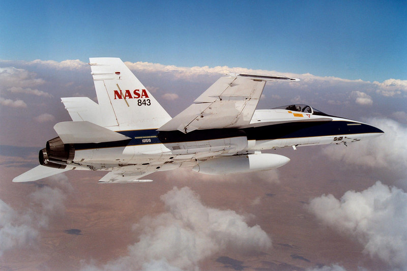 NASA Dryden had a photo of #843, but not #842. NASA's paint job makes the already great looking F-18 look that much better.