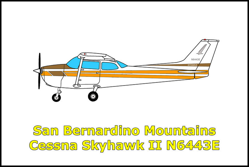 On 2/20/09, the Cessna 172N Skyhawk N6443E was on a flight from San Bernardino International Airport to Big Bear City Airport. The pilot's route of flight to the airport took the airplane through mountainous terrain with elevations above 8,000 feet. He planned to fly up a canyon to reach the airport at  Big Bear Lake. While climbing towards the airport, the aircraft started loosing power for unknown reasons. The pilot realized that he wasn't going to clear the raising terrain and attempted a 180 degree turn but didn't have sufficient altitude to complete the turn and crashed into the side of the canyon. Both persons on broad survived the accident with only minor injuries.