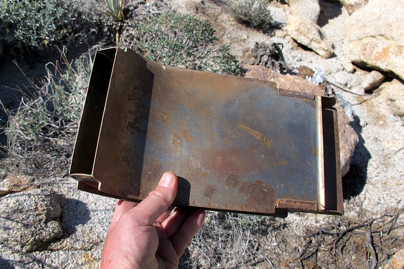 Looks like an ammo chute for one of the four 50 cals that the Wildcat was armed with.