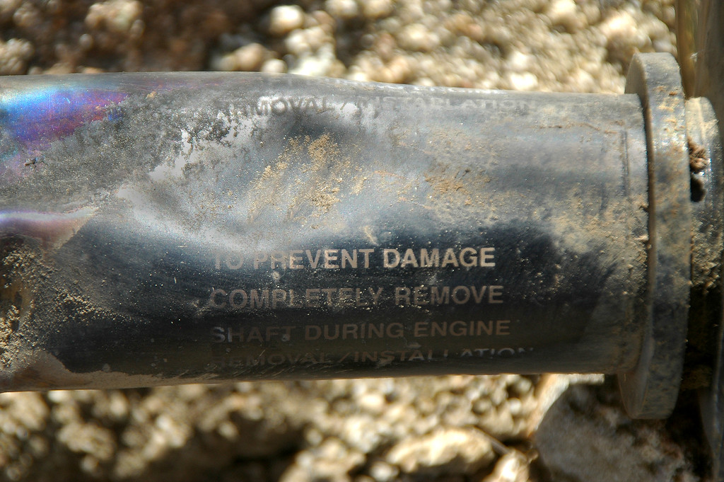 Close up of the marking on the same part.