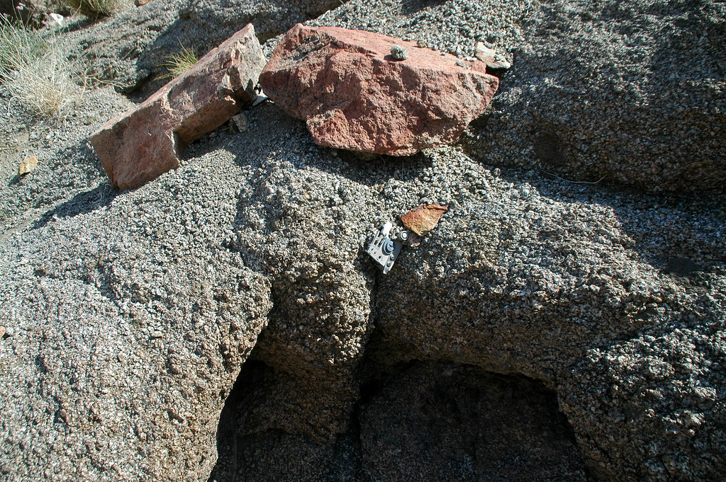 This small piece was wedged in the rocks.