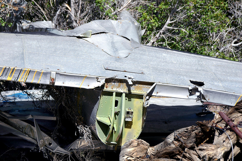 Center section of the stab and tail end of the fuselage. No sign of the elevator at the site.