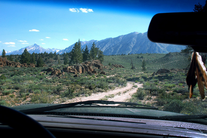View of the Sierras as I drive on the dirt roads back to the highway.<br /> <br /> THE END