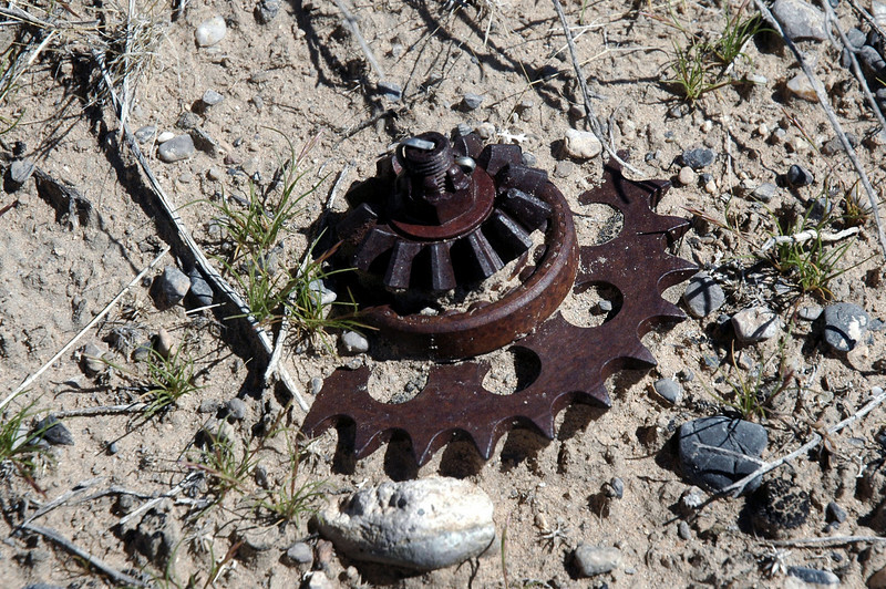 Gear and sprocket.