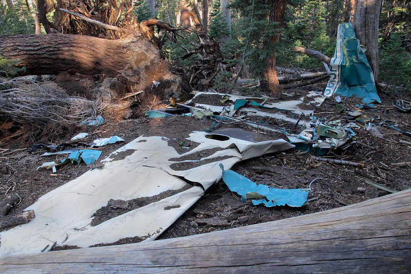 This photo shows most of the wreckage remaining at the site.