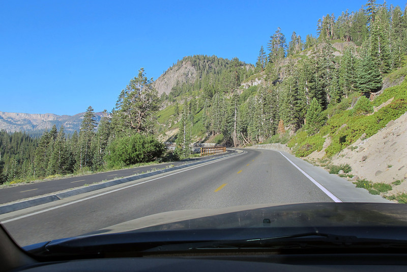 Driving to Horseshoe Lake from where I'll start the hike to the crash site. It's been about five years since I'll hiked in this area.