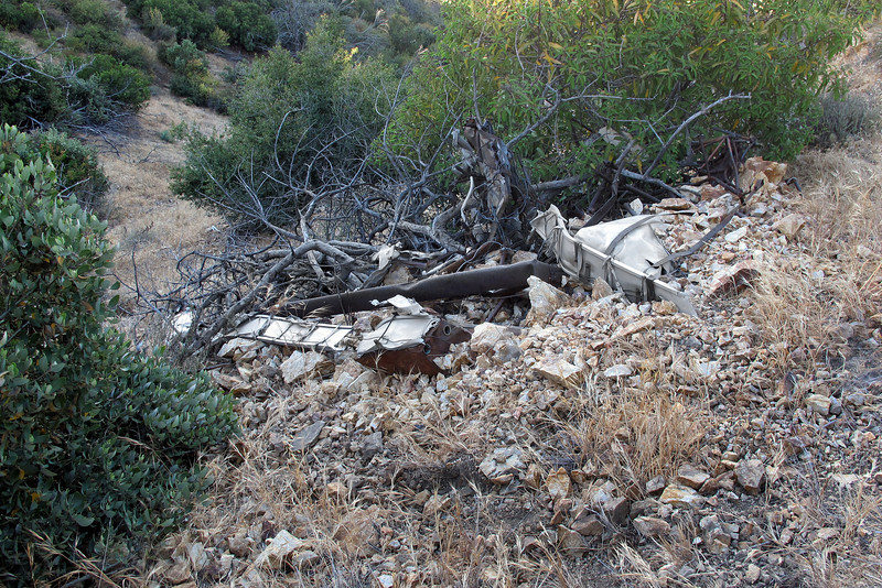 My first good view of the Piper's wreckage. At first it didn't look like much of the airplane remained at the site, but after taking a closer look, I could tell that most of it was still here.