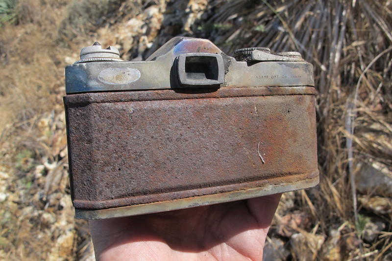 Another view. It always a strange feeling when I find personal items at crash sites. Placed the camera back just like I found it.
