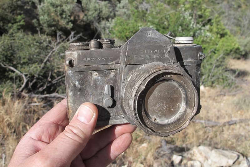 When I first saw it, the thought that maybe there's film that can be developed, but didn't take long to figure out that as badly damage by fire as it was, that there was no chance of any film remaining.