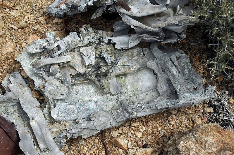 Closer view of a piece of the same wreckage.