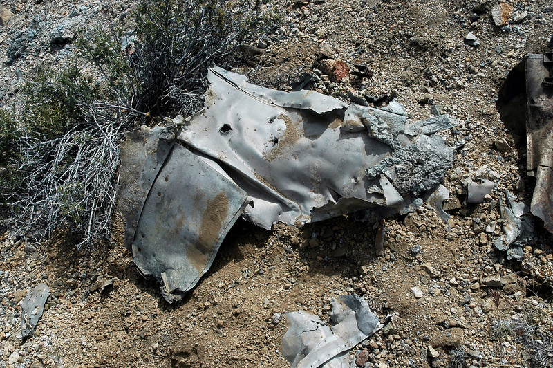 Turning it over, could tell it was a piece from one of the engine nacelles with a cowl flap.