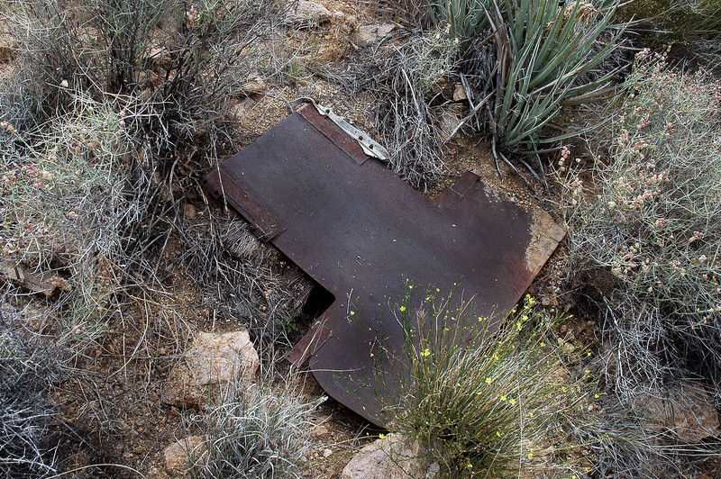 This is the first thing I came upon. Looks like a large piece of armor plate.
