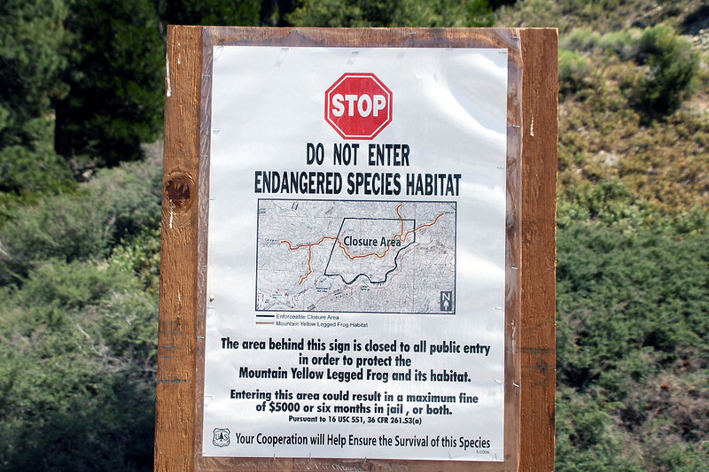 Found this sign near the trailhead. Good thing I was going up and not down the canyon.