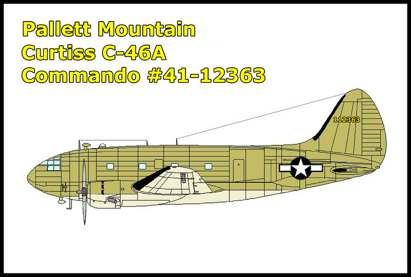 The crash site I was looking for was of a C-46A Commando that crashed on 2/20/44. The USAAF C-46A #41-12363 crashed in bad weather, none of the four crew members survied the accident.<br /> <br /> Also the  C-119 Flying Boxcar #53-3195 crashed 600 feet above on the same slope on 9/30/66.