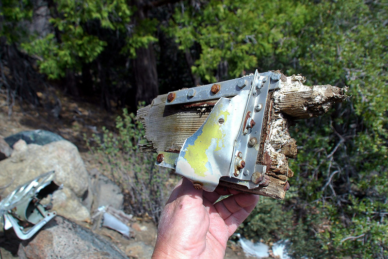 Close by was a piece of the rear spar.