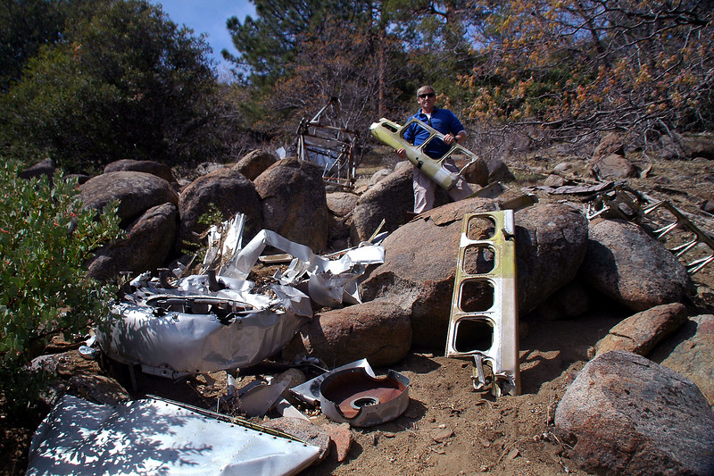 Me again. This shot shows most of the wreckage at the site other than the wing sections.