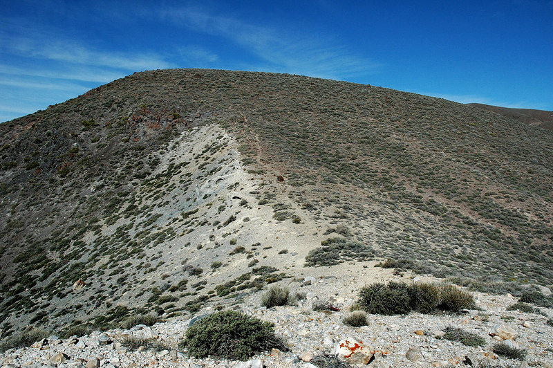 There was an on and off use trail to the peak, This is one of the five little peaks on the ridge