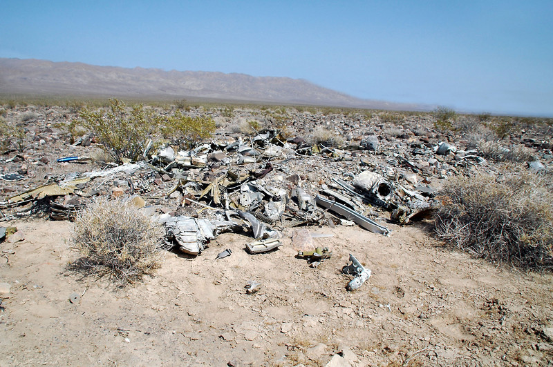 Most of the wreckage was on the east side of the crater.