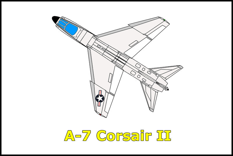 No info on this one, but part numbers found at the crash site indicated that it was a Vought A-7.