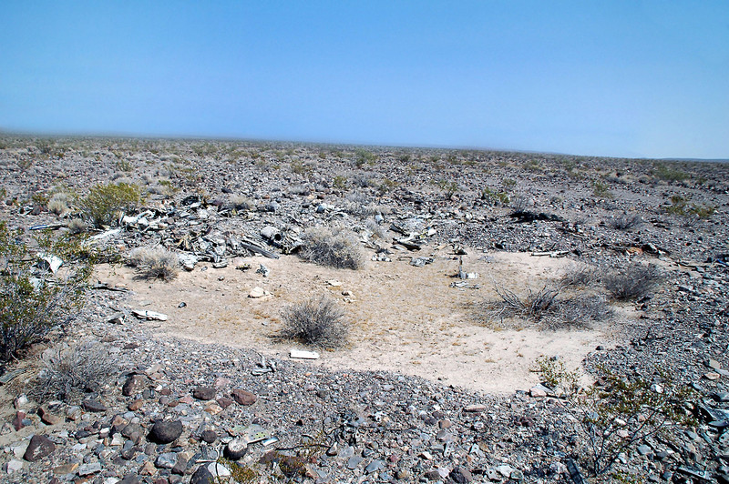 The impact crater. Looks like it was filled in with sediment. It was about two hundred yards south of where I started looking.