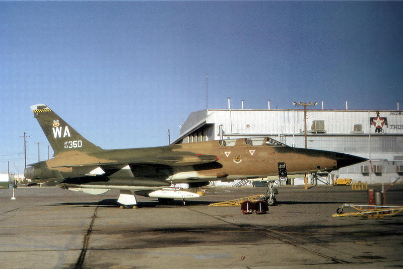 Photo of the Republic F-105G Thunderchief #63-8350 that crashed on 5/15/79 .