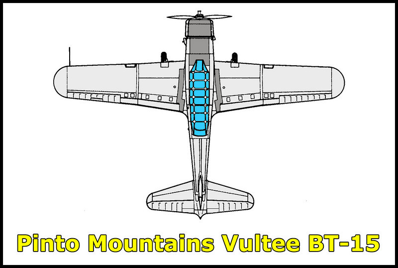 On 6/23/46  Vultee BT-15 #42-1833 crashed in the Pinto Mountains 8.5 miles southeast of Twentynine Palms killing Lockheed Aircraft employee Arthur T. Coddington who had been en route from Wickenburg AZ at time of the accident. Mr  Coddington just purchased the surplus Vultee BT- 15 and was on a flight to his home town of Burbank.