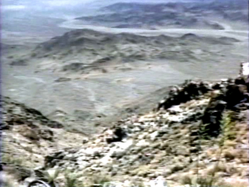 """This is the screen shot from Pat Macha's DVD """"Wreck Finding"""" that we used to locate the canyon.<br /> <br /> Image by: Pat J. Macha  <a href=""""http://www.aircraftwrecks.com"""">http://www.aircraftwrecks.com</a>"""
