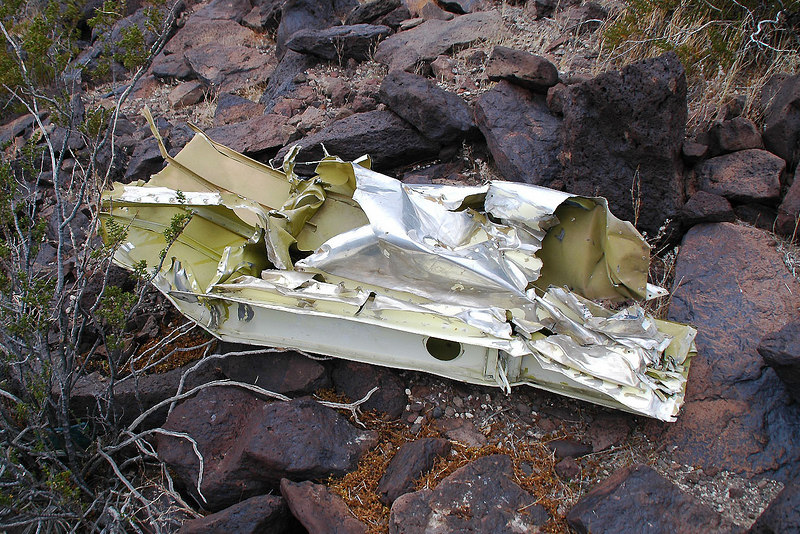 Found a piece of fuselage while looking for the wing.