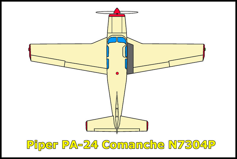 The Piper PA-24 Comanche N7304P crashed on 12/23/95. The flight started at Nervino, California and was destined for Lake Havasu City, Arizona. The pilot planed on a stop at Furnace Creek in Death Valley to drop off a Xmas tree, he never made it crashing into the mountains in bad weather.