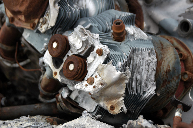 Valve spings on one of the heads.