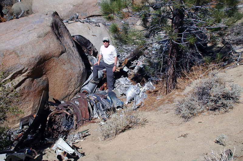 Me with the wreakage around the impact site.
