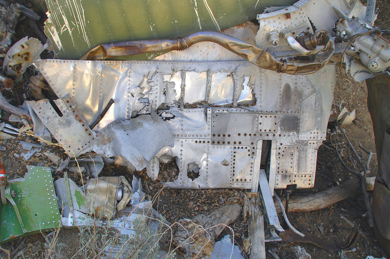 Just below the tailplane was a piece of one of the flaps.