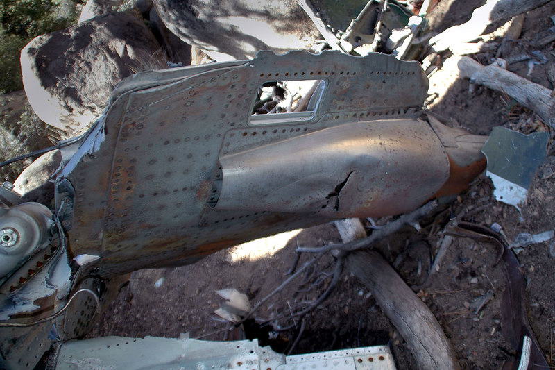 A piece of rear fuselage with a scoop.