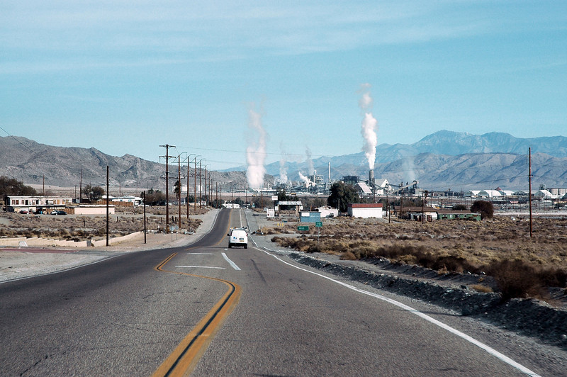 Driving on Hwy 178 heading into Trona.