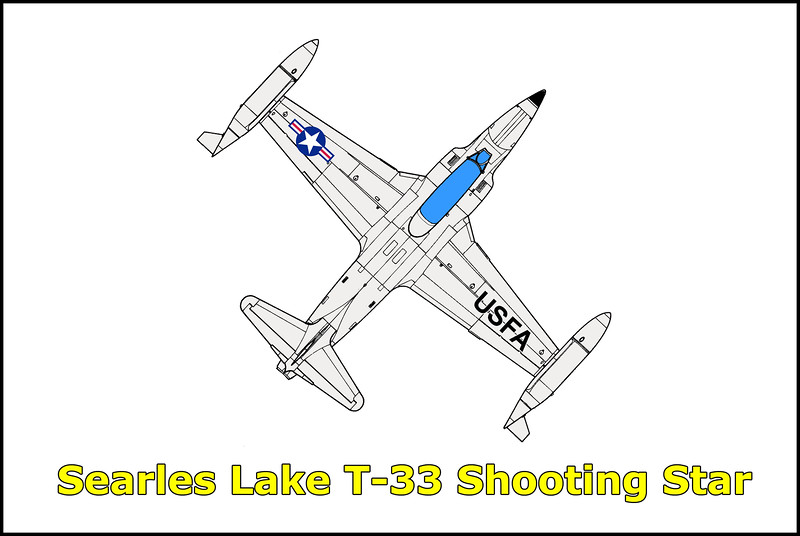 Headed out to Searles Lake just east of Trona to look for a crash site that I was told about. At the time I thought it was a QF-86 but found out later that it was a Lockheed T-33 Shooting Star. Don't have any information on the crash date or serial number of this airplane.