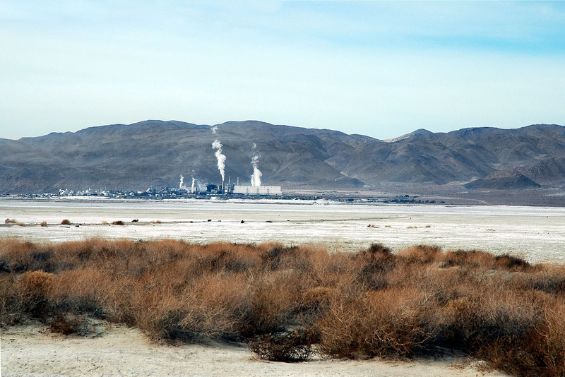 View of the mineral plant in Trona and the Argus Range as I drive around the edge of the lake bed. I only was given a vague location of the crash site which covers about a six square mile area.