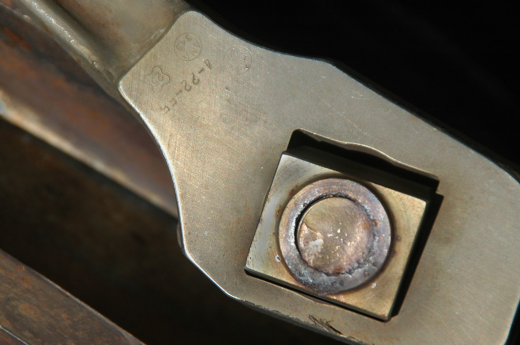 Taking a closer look at the engine mount, I noticed at had the date of 4-22-55 stamped on it.