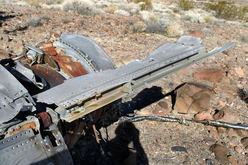 A piece of forward fuselage section was still attached.