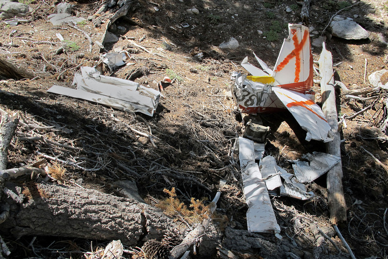 View of most of the wreckage in this area.