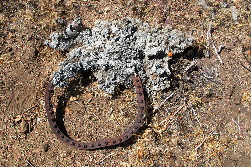 This ring is about a foot across, looks like it's from one of the fuel tanks.