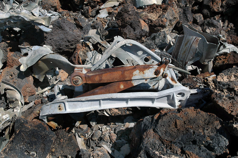 A piece of the other main landing gear.