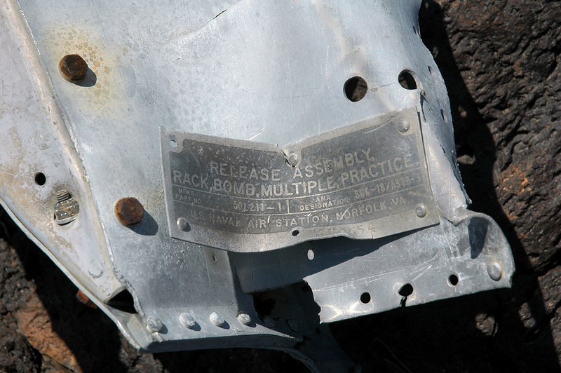 Close by found a piece of another one with a name plate. Looks like it was a Navy aircraft.