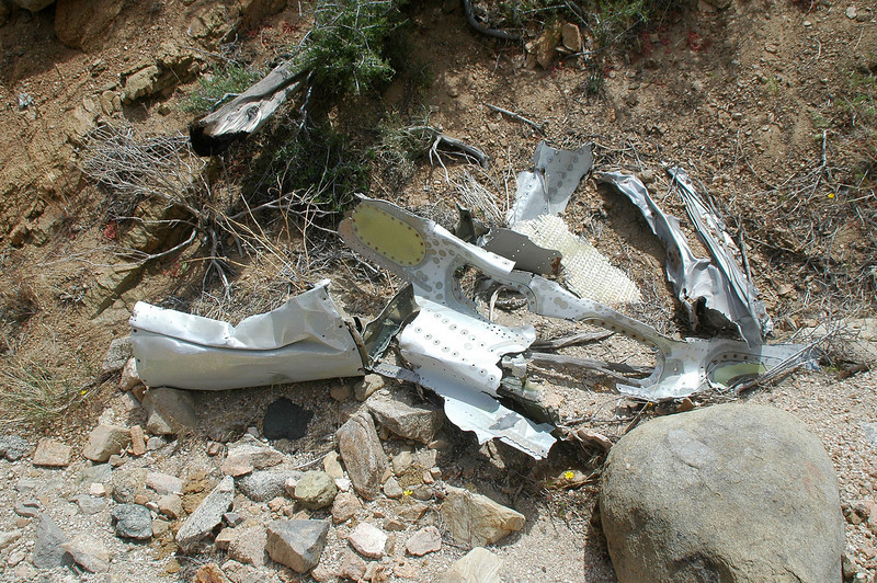 More wreckage from the wing. Looks like the Skyhawk crashed at high speed.