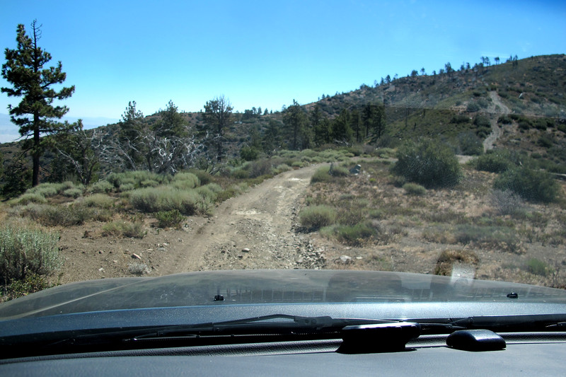 Driving to the starting point of the hike to search for the Cessna 336A N3848U. This is my second attempt at locating this site. Tried a few years back, but gave up after a couple of hours. Think I figured out where it is this time. Took a little 4X4 driving getting there.
