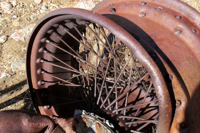 Close up of the spokes.